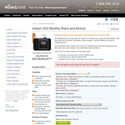 Iridium GO! Monthly Plans and Airtime