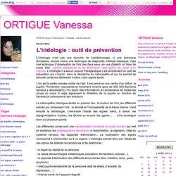 L'iridologie : outil de prévention - ORTIGUE Vanessa