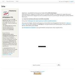 IRIS Plateforme pédagogique de l'Université Toulouse II-le Mirail