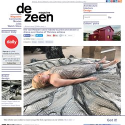 Iris van Herpen uses robots to print a dress for SS16