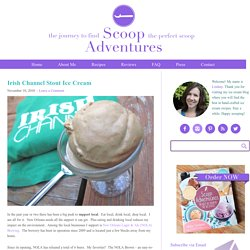Irish Channel Stout Ice Cream - Scoop Adventures - Scoop: Adventures in Ice Cream
