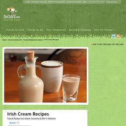 Irish Cream Recipes