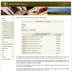 Irish Genealogy Search for Ireland
