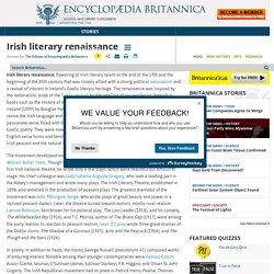 Irish literary renaissance