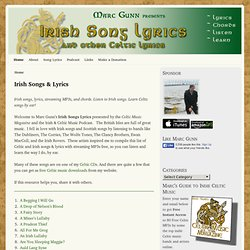 IRISH SONG LYRICS