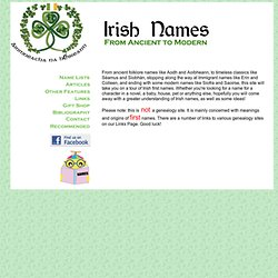 Irish Names