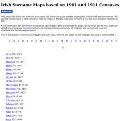 Irish Surname Maps