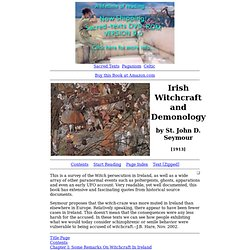 Irish Witchcraft and Demonology Index