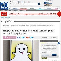 Snapchat: Les jeunes irlandais sont les plus accros à l'application