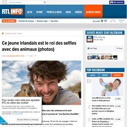 Ce jeune Irlandais est le roi des selfies avec des animaux (photos) - RTL People