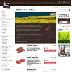Viande irlandaise, élevage irlandais en plein air comme l'Angus et l'Aberdeen, bœuf nourris à l'herbe toute l'année Boucherie haut de gamme