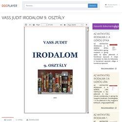 VASS JUDIT IRODALOM 9. OSZTÁLY - PDF Ingyenes letöltés