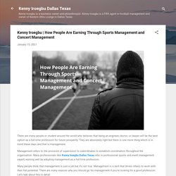 How People Are Earning Through Sports Management and Concert Management