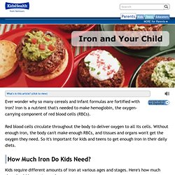 Iron Requirements and High Iron Foods