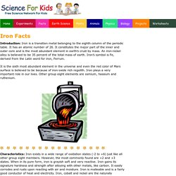 Iron Facts - Science for Kids