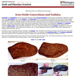 iron-oxide concretions and nodules