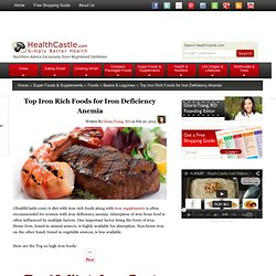 Iron Rich Foods for Iron Deficiency Anemia