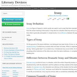 Irony - Examples and Definition of Irony