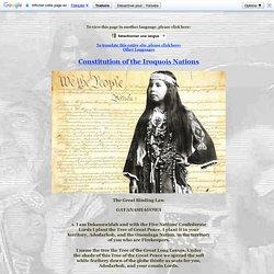 Iroquois Constitution