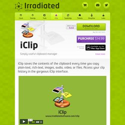 Irradiated Software - iClip - Simply Useful Clipboard Manager