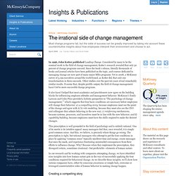 Change management compelling story Mckinsey
