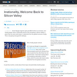 Irrationality, Welcome Back to Silicon Valley: Tech News «