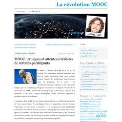 MOOC : critiques et attentes irréalistes de certains participants