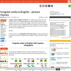 Irregular verbs in English - picture rhymes