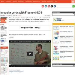 Irregular verbs with Fluency MC 4