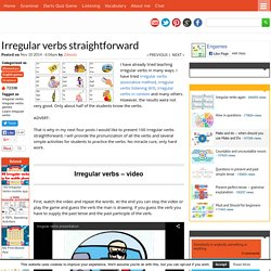 Irregular verbs straightforward - Games to learn English