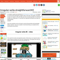 Irregular verbs straightforward #2 - Games to learn English
