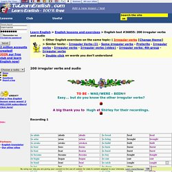 200 irregular verbs and audio-English