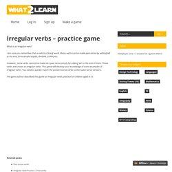 Irregular verbs – practice game