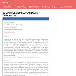 El control de irregularidades y Tripadvisor
