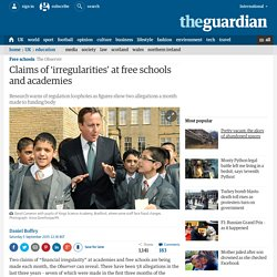 Claims of 'irregularities' at free schools and academies