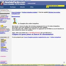Verbes irréguliers anglais: test de rapidité