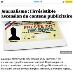 Journalisme : l'irrésistible ascension du contenu publicitaire -