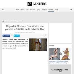 Regardez Florence Foresti faire une parodie irrésistible de la publicité Dior