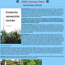 Irrigation Pipe Antenna Mast