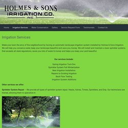 Irrigation Services – Holmes & Sons Irrigation Co.