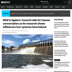 NSW Irrigators' Council calls for honest conversation as its research shows inflows to river systems have halved