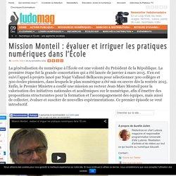 Mission Monteil : évaluer et irriguer les pratiques numériques dans l'École