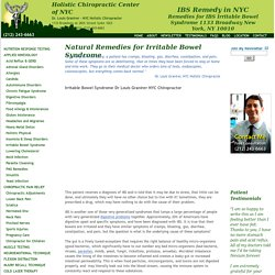 IBS Remedy NYC Irritable Bowl Syndrome by Dr. Louis Granirer