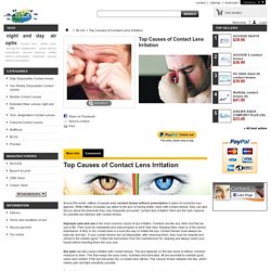 Top Causes of Contact Lens Irritation - Contact lenses without prescription