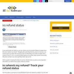 How Do I Check IRS Refund Status?