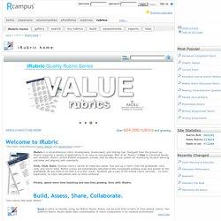 Home of free rubric tools: RCampus.com