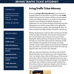 Irving Traffic Ticket Attorney, Traffic Ticket Attorney Texas