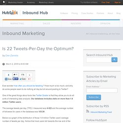 Is 22 Tweets-Per-Day the Optimum?