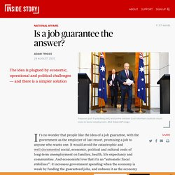 Is a job guarantee the answer?