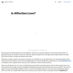 Is Affection Love? — Teletype